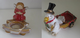 Cute Christmas  T Light Holders Angel or Duck with a Wheel Barrow